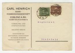 Deutsches Reich Michel No. 161 , 187 gestempelt used auf Karte