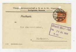 Deutsches Reich Michel No. 189 gestempelt used auf Karte