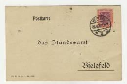 Deutsches Reich Michel No. 198 gestempelt used auf Karte
