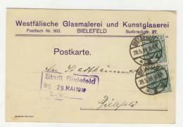 Deutsches Reich Michel No. 85 II gestempelt used auf Karte