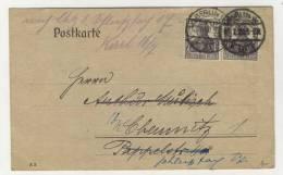 Deutsches Reich Michel No. 101 gestempelt used auf Karte