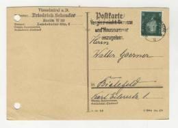 Deutsches Reich Michel No. 412 gestempelt used auf Karte