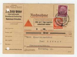 Deutsches Reich Michel No. 517 , 520 gestempelt used auf Karte