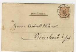 Deutsches Reich Michel No. 45 gestempelt used auf Karte