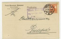 Deutsches Reich Michel No. 99 gestempelt used auf Karte