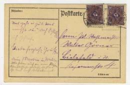 Deutsches Reich Michel No. 207 gestempelt used auf Karte