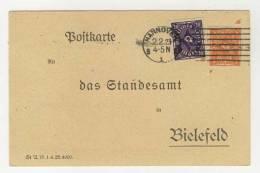 Deutsches Reich Michel No. 227 b , 230 gestempelt used auf Karte