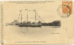 Expédition Polaire CHARCOT -Le Français -Autographe Charcot -carte Postale Souvenir Pour Les Souscripteurs De L.. - Autographs