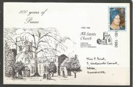 Great Britain. 1980 Event Cover, 800 Years Of Praise At All Saints Church Owston Doncaster - Covers & Documents