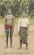 : Réf : L-12-2076  :   Philippines Negrito Man & Wife Bataan Prov. P.I. - Philippines