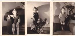 21041- 3 Photos Originales  6x9cm Femme Sans Doute Belge Belgique Vers 1950 -enfant - Personnes Anonymes