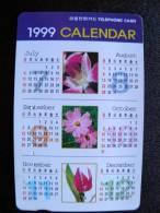 Phone Card From South Korea, Magnetic Autelca, 5,000 Calendar 1999 - Korea, South