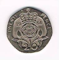 GREAT BRITAIN  20 PENCE   1984 - 20 Pence