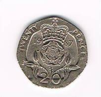 GREAT BRITAIN  20 PENCE   1987 - 20 Pence