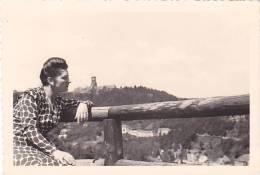 21048- 2 Photos Originales  6x9cm Femme Sans Doute Belge Belgique Vers 1950 -