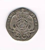 GREAT BRITAIN  20 PENCE   1990 - 20 Pence