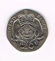 GREAT BRITAIN  20 PENCE   1993 - 20 Pence
