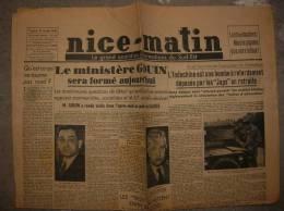 NICE MATIN Du 25 Janvier 1946 - Giornali