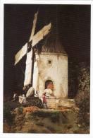 CRECHE - La Petite Provence Du Paradou - Santons Dans Un Village Miniature- Moulin Et Meunier(48622) - Autres