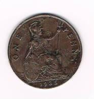 GREAT BRITAIN  1 PENNY 1935 GEORGES V - 1902-1971: Postviktorianische Münzen