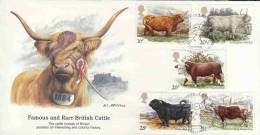 GREAT BRITAIN FDC RARE BRITISH CATTLE AAD1269 - Non Classés
