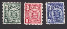 Panama, Scott #235, 236, 240, Used, Coat Of Arms, Issued 1924 - Panama