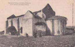 CPA 85  St-JEAN-L´ORBESTIER, Ruines De L´ABBAYE.(animée) - Sables D'Olonne