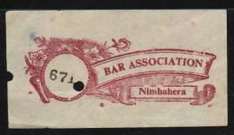 NIMBAHERA State India  BAR ASSOCIATION  LABEL #  05641fd   Indien Inde - Vignetten (Erinnophilie)