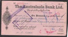 PAKISTAN Old Bank Demand Draft Document, The Australasia Bank Ltd. Lahore 24-12-1966 - Bank & Insurance