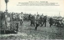 51  FERE-CHAMPENOISE 3e Anniversaire De La Bataille De La Marne   Le Président De La République Visitant..... - Fère-Champenoise