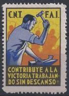 Guerre D'Espagne, F A I - Erinnophilie
