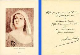 Gloria SWANSON - Actrice Cinéma - Litho Par P. Bessen  Texte (fac Simile Signé) (PH 142) - Lithographies