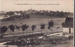 LUCAY LE MALE.  VUE GENERALE PRISE DE L'AVENUE DE LA GARE. - Francia