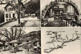 CPSM  GREOLIERES     Multivues  Domaine Du Foulon Hotel Restaurant Vallée Du Loup - Autres Communes