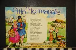 CPSM CHANSONS J Irai Revoir Ma Normandie - Musica