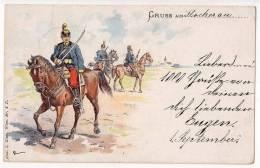 MILITARIA CHARACTERS OLD POSTCARD 1898. - Militaria