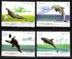 TAIWAN 2002 - Faune Marine, Baleines, Dauphins - 4 Val Neuf // Mnh - 1945-... République De Chine