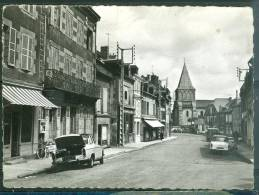 Cpsm Gf -   Benevent-l'Abbaye ( Creuse ) Rue Du Marché      - Lwg111 - Benevent L'Abbaye