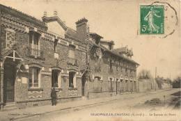 Cpa78 Neauphle Le Chateau Le Bureau De Poste - Neauphle Le Chateau