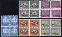 SWITZERLAND 1961 Pro Patria Set In Blocks Of 4 **/*.  Michel 731-35 - Pro Patria
