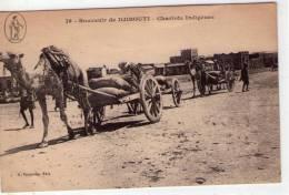 Djibouti..animée..Chariots Indigènes..dromadaires..attelages - Djibouti