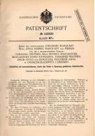 Original Patentschrift - Erben Des Johannes Marquart In Großzschachwitz ,1901, Feile Mit Auswechselbarem Schleifstreifen - Werkzeuge