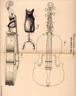 Original Patentschrift - Oswald Pawlik In Brünn , 1901 , Halter Für Geigen , Geige , Violine , Cello !!! - Musikinstrumente