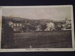 PRADONS (Ardèche) - L'Ecole - Non Voyagée - Tâchée (voir Scans) - France