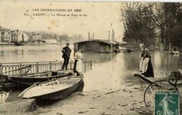 77 LAGNY-SUR-MARNE - Inondations De 1910 - La Marne Au Pont De Fer - ELD N° 820 - Animée - Lagny Sur Marne