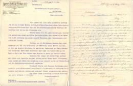 Brief Brown Boveri Werke AG Wien - Graf Revertera Helfenberg 1924 Elektrowärter Österreich Austria - Mitteilung