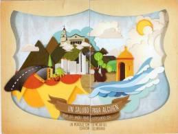 Lote PEP301, Colombia, Dia Mundial Del Correo, Ciudades,  Postal, 2 Postcards, Unusual Stamp No Commercial Value - Colombia