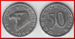 AACHEN **** ALLEMAGNE - GERMANY - 50 PFENNIG STADT AACHEN 1920 **** EN ACHAT IMMEDIAT - Monétaires/De Nécessité