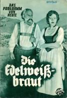 DPVH 104 Die Edelweißbraut 1952 Die Schöne Tänzerin Franz Weinberger Kinz Kino Filmprogramm Programm Movie - Zeitschriften