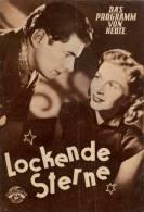 DPVH 117 Lockende Sterne 1952 Rudolf Prack Josef SieberJoachim Brennecke Kolin Filmprogramm Programm Movie - Zeitschriften